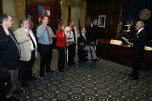 SILC Board Members being sworn in by Governor Nathan Deal