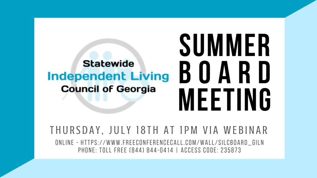 Board Meeting Agenda | Statewide Independent Living Council